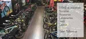 Bike Support La Mina. 200 m2 de exposición, bicicletas, acesorios, componentes...