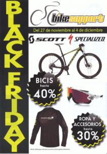 ¡Del 27 de noviembre al 4 de diciembre, Black Friday en Bikesupport!