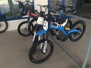 Moto-bike Bultaco Brinco, de suspensión ligera y motor eléctrico.