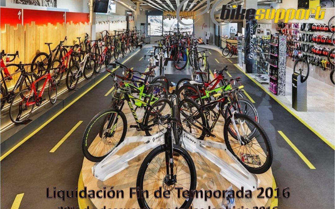 ¡DESCUENTOS DEL 30% EN TODAS LAS BICIS DEL 2016 POR LIQUIDACIÓN DE TEMPORADA!
