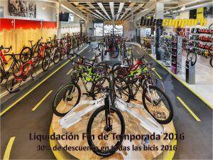 Todas las bicis del 2016 al 30%