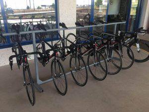 Carril de bicicletas para alquiler