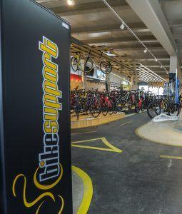 Bikesupport tienda de bicicletas y ciclismo en Madrid. Imagen de interior